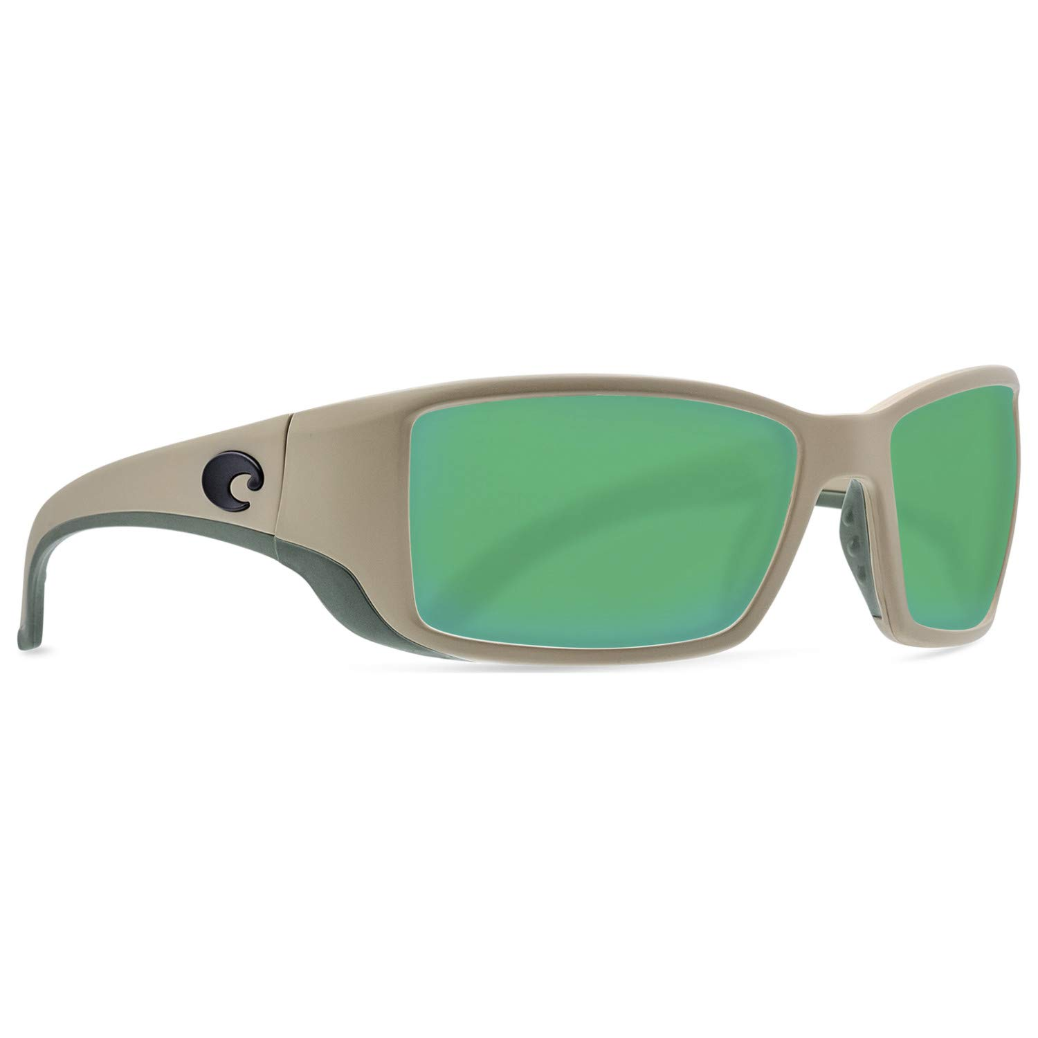 Costa Blackfin Plastic Frame Green Mirror Glass Lens Men's Sunglasses BL248OGMGLP by Costa Rican