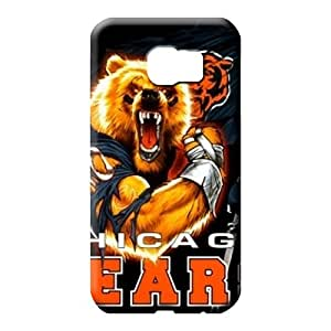 samsung galaxy s6 edge Shock Absorbing Durable stylish phone carrying cases chicago bears