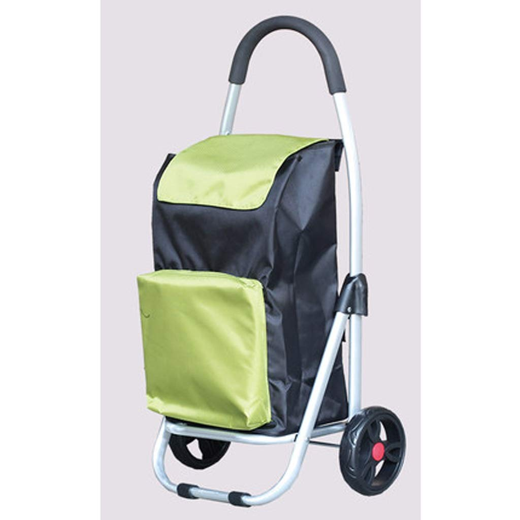 Lxrzls Old Man Shopping Cart, Grocery Hand Truck, Small Cart, Folding Portable Shopping Trolley (Color : Green)