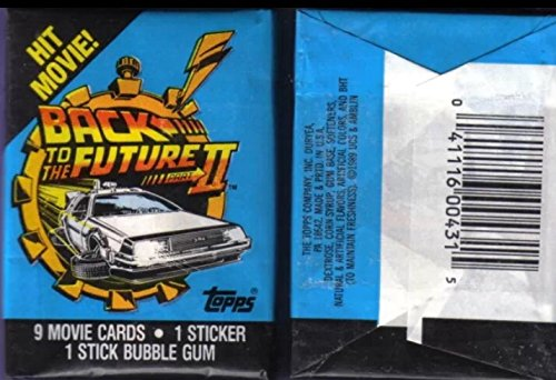 Fox Trading Cards (Retro 80s 1989 Back to the Future Part 2 (1) Unopened Wax Pack Movie Trading Cards Non-sport)