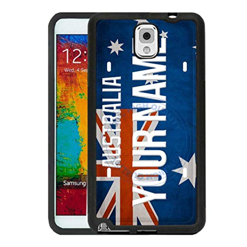 BRGiftShop Personalize Your Own License Australia Plate Rubber Phone Case For Samsung Galaxy J3 2018