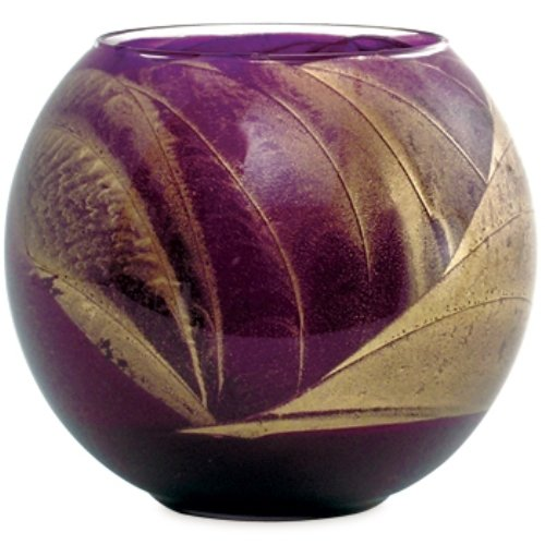 Northern Lights Candles Esque Polished Globe, 4 -Inch, Amethyst