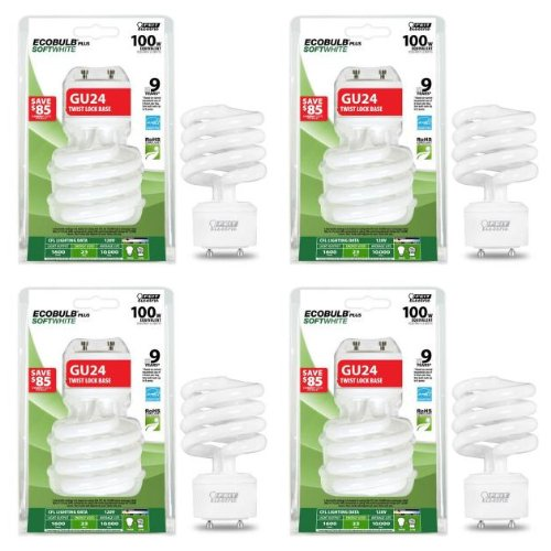 Feit Electric 23-Watt (100W) GU24 CFL Light Bulb- (4 Pack) ()
