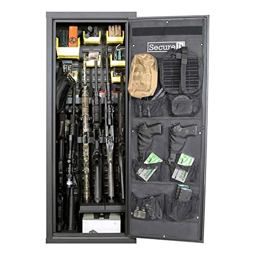 Secure It Gun Storage Agile Ultralight Gun Safe: Model 52 Pro - Holds 6 Fire Arms and Includes CradleGrid Tech, A Heavy Duty Cabinet with Keypad Control by Secure It