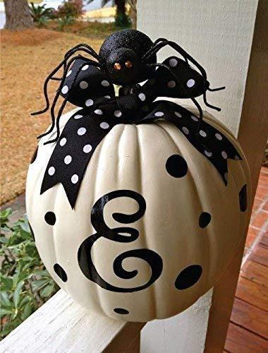 Pumpkin Decorations - Vinyl Decor, Halloween Home Decor, Halloween, or Thanksgiving Decorations, Personalized Home Decor - Pumpkin Not Included Decal Only ()