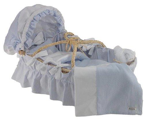 Basket Cotton Moses Stripes (Blue Seersucker Moses Basket)