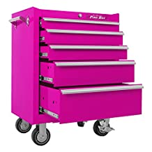 The Original Pink Box PB2605R 26-Inch 5-Drawer Rolling Cabinet (Pink)