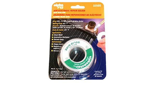 Alpha Assembly Solutions AM33505 4-oz., .125-Diameter Leaded General-Purpose Solder - Quantity 6 - - Amazon.com