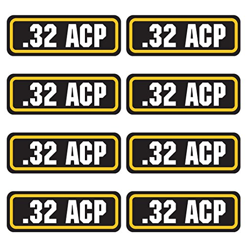AZ House of Graphics 32 ACP Ammo Sticker 8 Pack (Best 32 Acp Ammo)