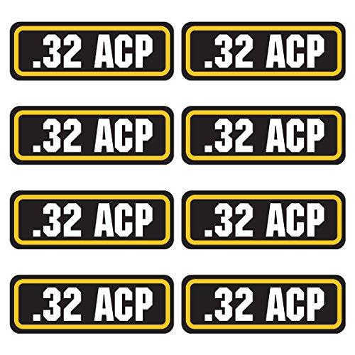 AZ House of Graphics 32 ACP Ammo Sticker 8 Pack (Best 32 Acp Ammo)