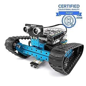 Makeblock mBot Ranger, Kit de Robot programable para Que los niños aprendan codificación, Kit de Robot Educativo 3 en 1, Tres Formas, versión Bluetooth, Azul, Steam Education