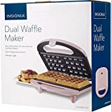 Insignia Dual Waffle Maker -PINK Nonstick Grill Belgian Waffle Iron Breakfast, NS-WM2CPK7 For Sale