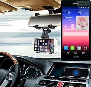 Sostenedor del montaje espejo retrovisor para Huawei Ascend P7, negro | Escuadra de coches - K-S-Trade (TM)