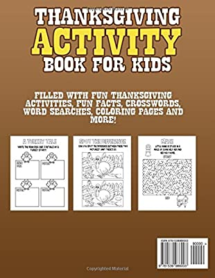thanksgiving activity book for kids filled with fun thanksgiving