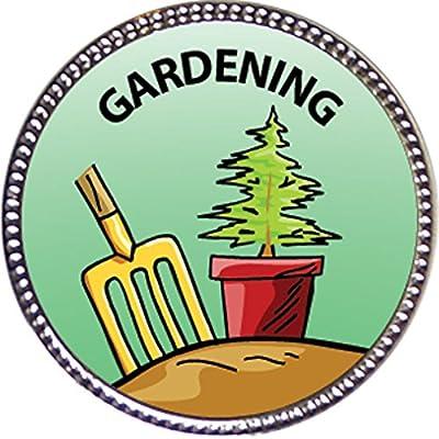 Keepsake Awards Gardening Award, 1 inch Dia Silver Pin Around The Home Collection: Toys & Games