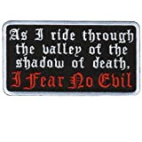 Hot Leathers I Fear No Evil Patch