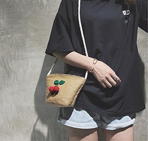 Bag Popular Mini Straw Woven Style Khaki Shell Shoulder Minghui Jiang Fabric Package Satchel qvn6SH