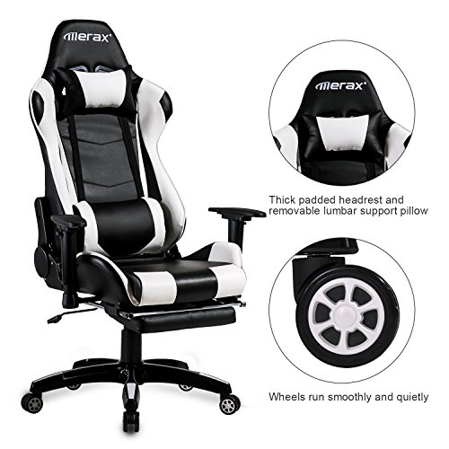 Merax Executive Swivel Leather Gaming Chair Racing Style