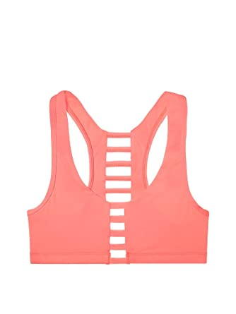 b08ad7ba3a Victoria s Secret PINK Ultimate Cage Sports Bra Orange (X-Small) at ...