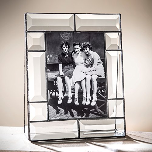 J Devlin Pic 112-57V 5x7 Crystal Glass Picture Frame Clear Beveled Vertical Photo (Photo Keepsake Crystal)