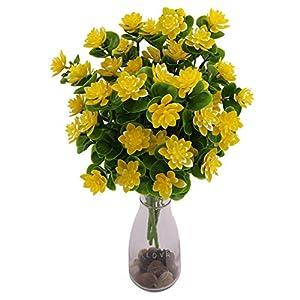 ZCON 1 Pc/5 Branches/15 Heads Artificial Camellia Flower Banquet Home Party Decor 68