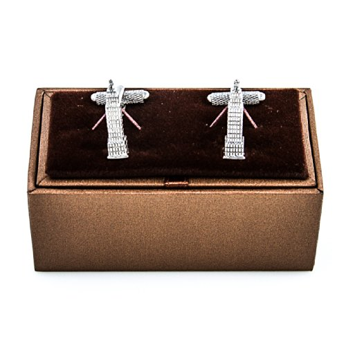 MRCUFF Empire State Building NYC Pair Cufflinks in a Presentation Gift Box & Polishing Cloth