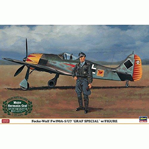 (Hasegawa Corp. 08241 1/32 Focke-Wulf FW 190 A-5/U7 GRAF Special w/Fig)