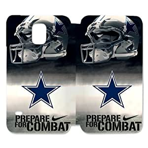 RAROFU High Quality Dallas Cowboys Custom For Case Samsung Note 4 Cover