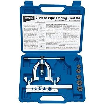 Draper 51762-DP Brake Pipe Flaring Kit (7 Piece)