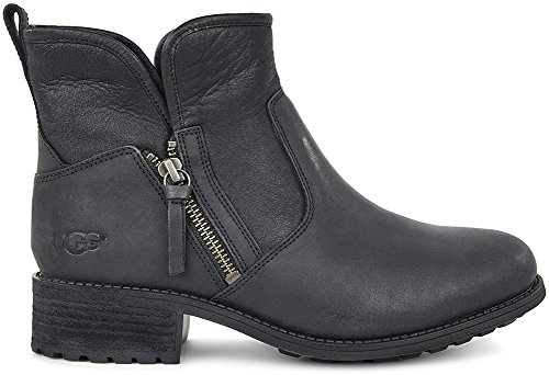 UGG Australia Women's Lavelle Leather Boots (Black,5B) by UGG