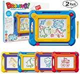 Etch A Sketch Magnetic Drawing Pad Magna Doodle Board for Toddlers Kids, 2 Pack Colorful Drawing Board Pad Toys Gifts for Writing,Sketching,Painting, Travel Size Gaming Pad, Educational Learning