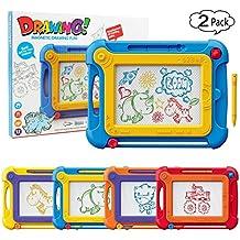 [Patrocinado] Etch A Sketch magnético bloc de dibujo Magna Doodle Board para bebés niños, pack de 2Colorido tablero de dibujo Pad juguetes regalos para escribir, dibujar, pintar, tamaño de viaje Gaming Pad, aprendizaje educativo