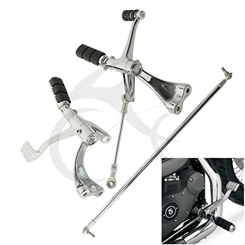Tengchang motorcycle Chrome Forward Controls W/ Pegs Linkage For Harley Sportster 883 1200 XL 2004-2013