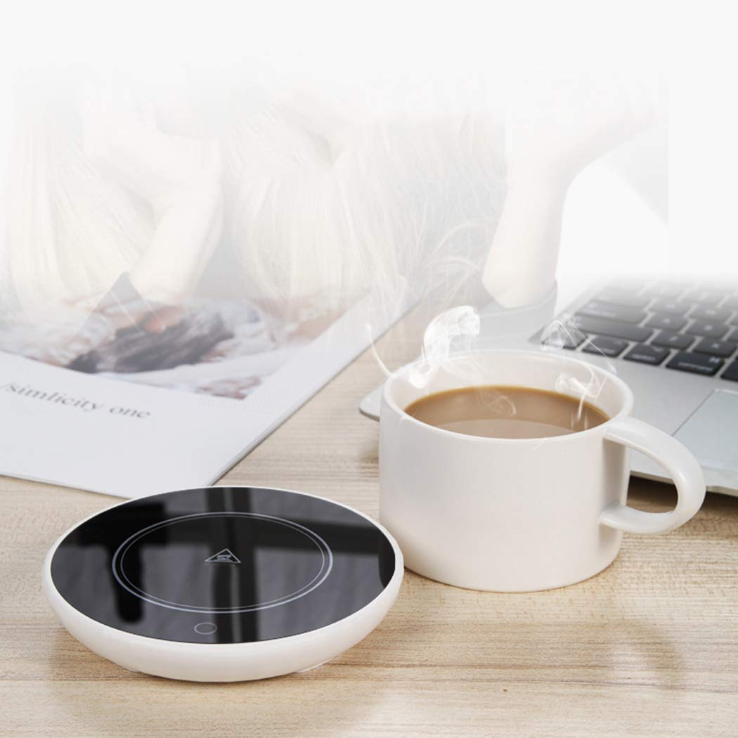 Smart Coffee Mug Warmer, Cup Warmer Safely Use for Office, Home to Warm Coffee Water Tea Milk, Heating Pad, Gravity-Induction Beverage Warmer Plate (Up to 131℉/55℃) (Black) by Yitrend (Image #6)