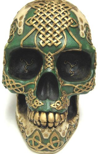 Celtic Knotwork Lion Human Skull Money Bank Piggy ()
