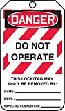 Accuform MLT406LTP ''DO NOT OPERATE THIS LOCK/TAG MAY ONLY'' Sign (Pack of 25)