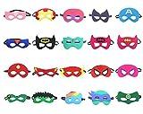 QWER Superheroes Party Masks para niños, 20 piezas