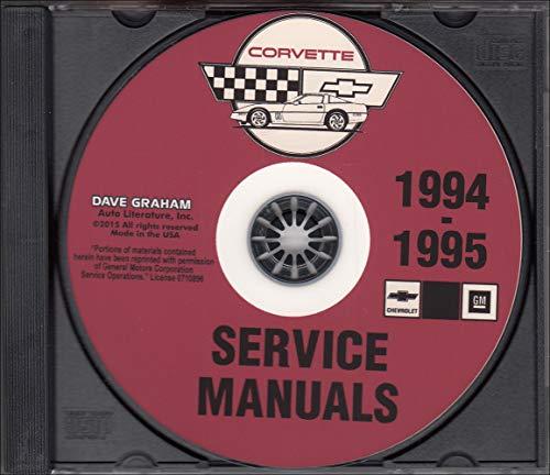 COMPLETE 1994 1995 CORVETTE FACTORY REPAIR SHOP & SERVICE MANUAL CD All Models
