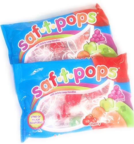 (Saf-T-Pops Fruit Flavored Lolipops 10oz Pack of)