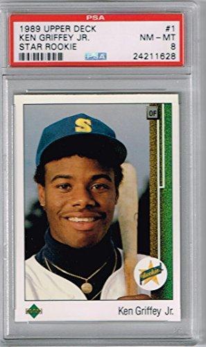 1989 Upper Deck #1 Ken Griffey Jr. Rookie RC PSA 8 (OC) Graded Baseball Card