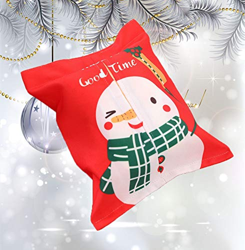 Christmas Gift Bags with Tissue Paper Bundle Towel Decoration Fabric Bag Cartoon Cloth Tissue Box (C) by baskuwish Christmas Decor