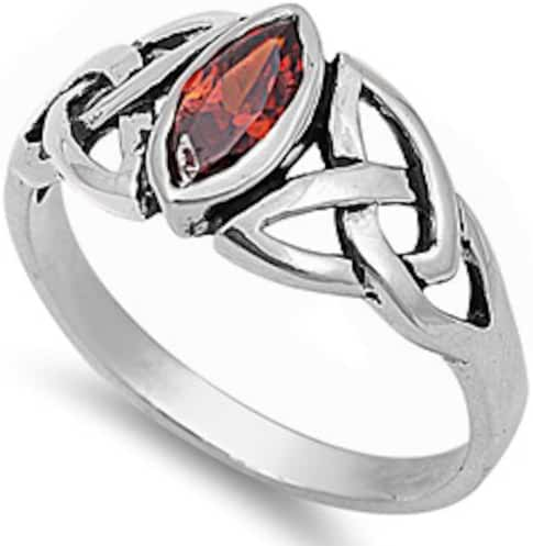 Marquise CUT Simulated Garnet .925 Sterling Silver Ring Sizes 4-11