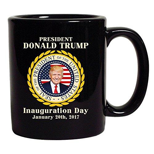 Trump Inauguration Day United States Of America Flag Black DT Coffee 11 Oz Mug