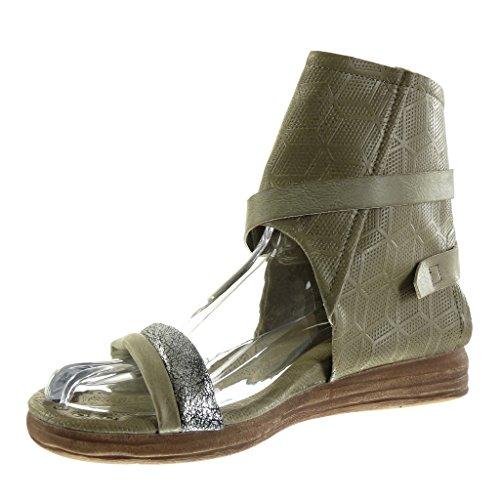 Zapatillas Moda Abierto Descuento Sandalias Botines 50De Angkorly xsBQrdtCh