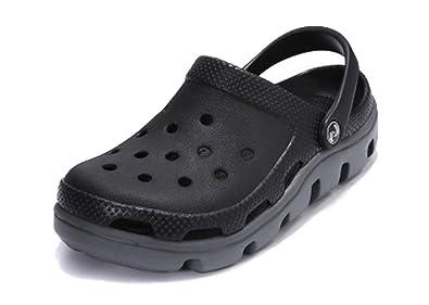 2cc2fe1a4b6a20 Respeedime Hole Shoes Men s Summer Beach Shoes Breathable Sandals Slippers  Black Gray ...