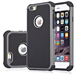 iPhone 6S Case, Jeylly(TM) [Shock Proof] Plastic Outer + Rubber Silicone Inner Scratch Absorbing Hybrid Rubber Plastic Impact Defender Rugged Slim Hard Case Cover Shell For Apple iPhone 6/6S 4.7'