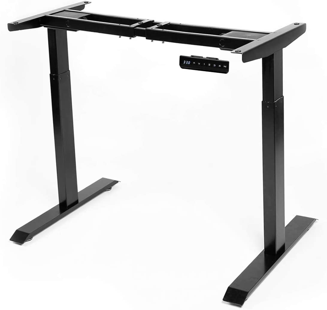 AECOJOY Electric Standing Desk Frame Black Dual Motor Frame Height Adjustable Stand Up Workstation with Memory Preset Controller