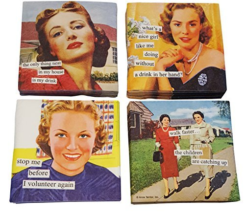 - Women Cocktail Napkins Funny Anne Taintor Variety Pack 40 total napkins