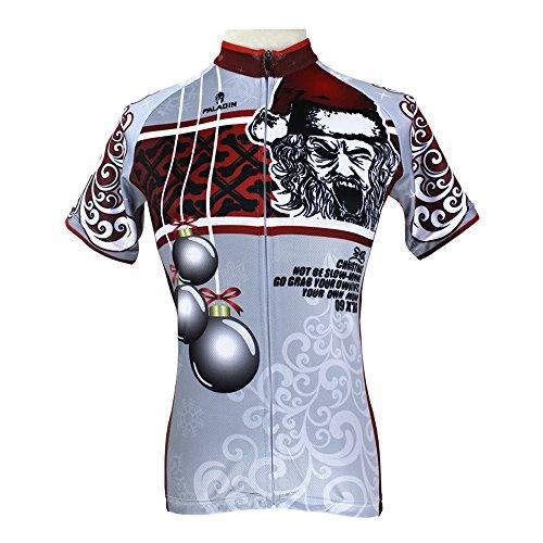QinYing Women's Christmas Patterns Short Sleeve Bicycle Bike Cycling Jersey Top
