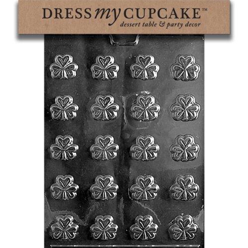 Dress My Cupcake Chocolate Candy Mold, Bite Size Shamrocks